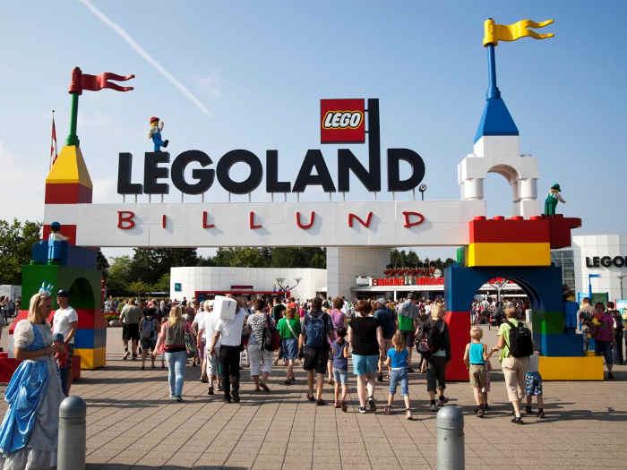 Wejście do miasteczka Lego