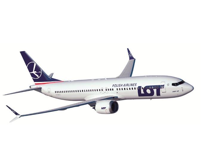 samolot z napisem LOT