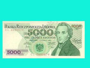 stare 5000 złotych