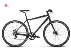 czarny miejski rower