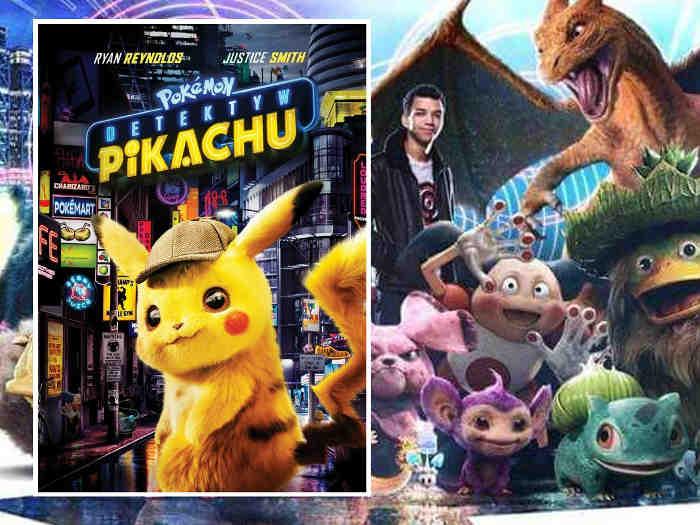 okładka dvd na tle pokemonów