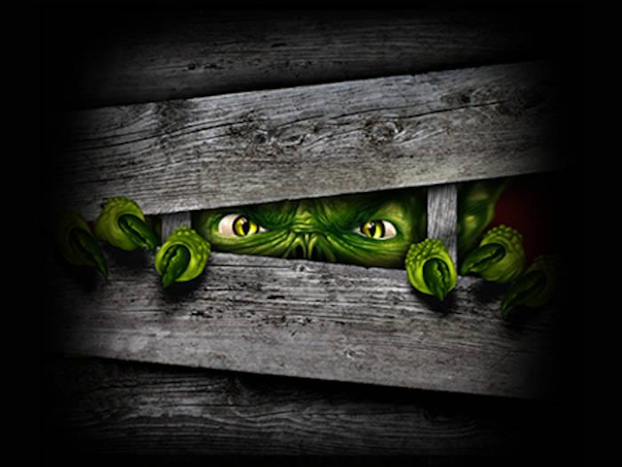 zielony stwór