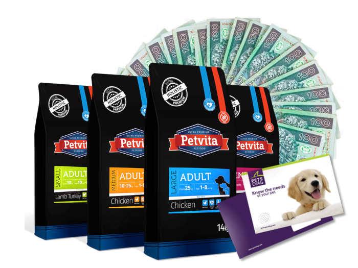 opakowania karmy plus banknoty