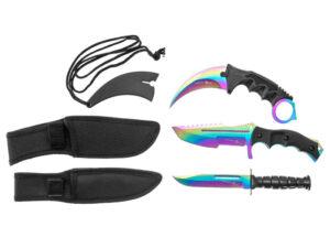 trzy noże