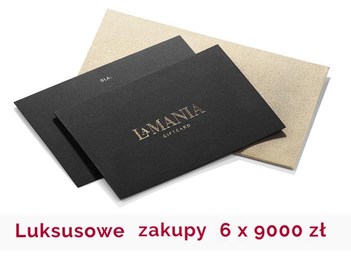 karta prezentowa z logo firmy